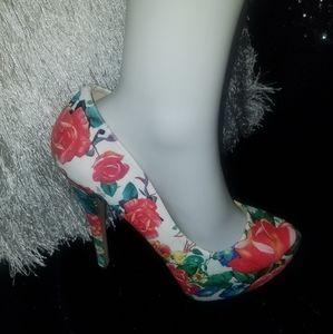 Paprika Floral Stiletto Pumps